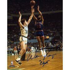 Walt Frazier New York Knicks Autographed vs Boston Celtics Photograph