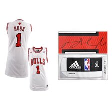 <strong>Mounted Memories</strong> Derrick Rose Chicago Bulls Autographed Jersey