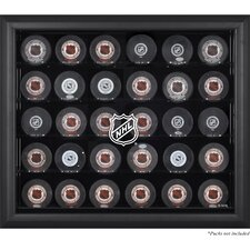 NHL 30 Hockey Puck Logo Display Case