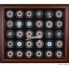 <strong>Mounted Memories</strong> 30 Hockey Puck Logo Display Case