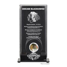 2010 Stanley Cup Championship Logo Puck Display Case