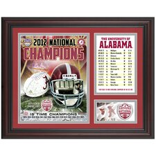 Alabama Crimson Tide 2012 BCS National Champions Framed Collage
