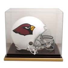 <strong>Mounted Memories</strong> NFL Wood Base Helmet Logo Display Case