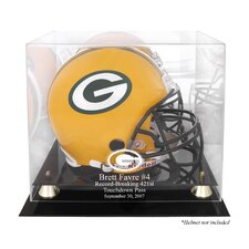 NFL Brett Favre 421st TD Record-Breaker Helmet Logo Display Case