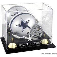 NFL Hall of Fame Classic Logo Mini Helmet Display Case