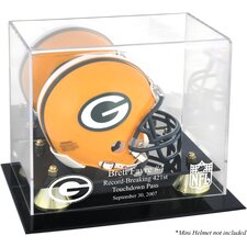 NFL Brett Favre 421st TD Record-Breaker Mini Helmet Display Case