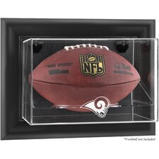 <strong>Mounted Memories</strong> NFL Wall Mounted Football Logo Display Case
