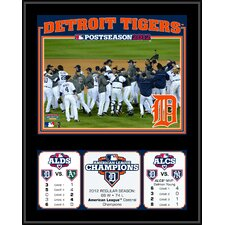 MLB Detroit Tigers 2012 American League Champions Sublimated Plaque