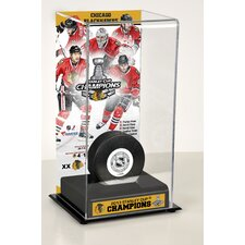 NHL 2013 Stanley Cup Champions Logo Deluxe Puck Display Case