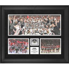 NHL 2013 Stanley Cup Champions Framed 3-Photograph Collage with Stanley Cup Used Ice