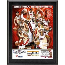 <strong>Mounted Memories</strong> Miami Heat 2013 NBA Champions Sublimated Plaque