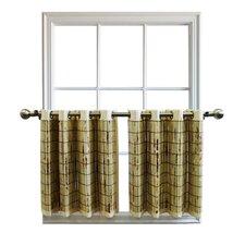 Bamboo Grommet Tailored Tier Curtain
