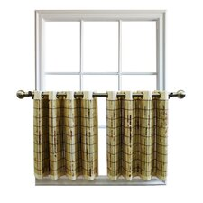 Cotton Bamboo Grommet Tailored Tier Curtain