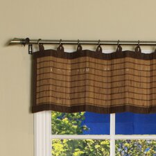 Bamboo Ring Top Cotton Valance Curtain