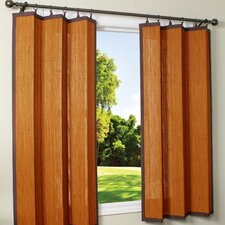 Indoor / Outdoor Bamboo Ring Top Curtain Single Panel