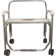"Bariatric Transport Shower Chair with 26"" Seat Width"