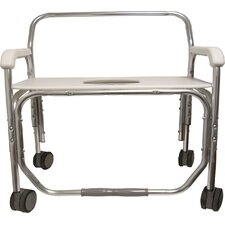"Bariatric Transport Shower Chair with 28"" Seat Width"