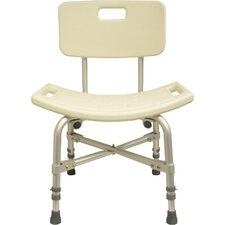 Bariatric Shower Stool with Back without Opening