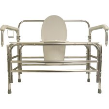 Bariatric Bedside Commode with Swing Away Arms