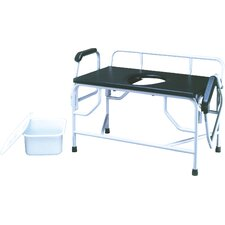 <strong>ConvaQuip</strong> Bariatric Bedside Commode with Drop Arm