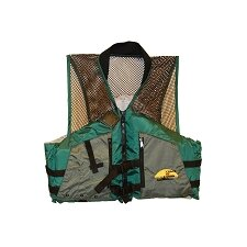 Fishing Life XXL Adult Vest in Green / Grey