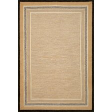 Carlton Natural Stripe Border Indoor/Outdoor Rug