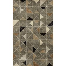 Fantasy Triangles Grey Rug