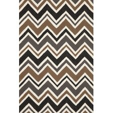 Capri Charcoal See Saw Indoor/Outdoor Rug
