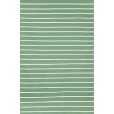 Sorrento Pinstripe Aqua Indoor/Outdoor Area Rug