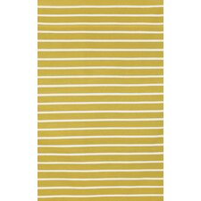 Sorrento Pinstripe Yellow Indoor/Outdoor Rug