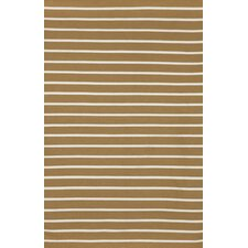 Sorrento Pinstripe Khaki Indoor/Outdoor Rug