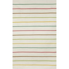 Sorrento Candy Stripe Neutral Indoor/Outdoor Area Rug