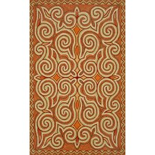 Ravella Sunrise Kazakh Outdoor Orange Area Rug