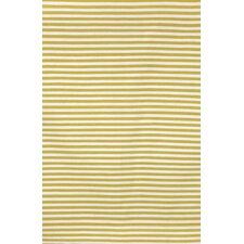 Sorrento Mini Stripe Yellow Indoor/Outdoor Area Rug