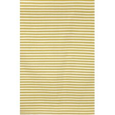 Sorrento Mini Stripe Yellow Indoor/Outdoor Rug
