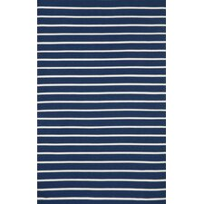 Sorrento Pinstripe Navy Indoor/Outdoor Rug