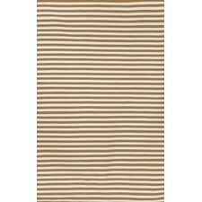 Sorrento Mini Stripe Khaki Indoor/Outdoor Rug