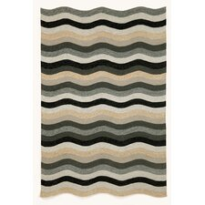 Carlton Black Waves Indoor/Outdoor Rug