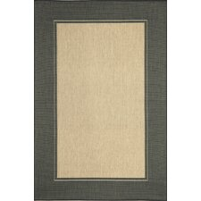 Monterey Charcoal Border Indoor/Outdoor Rug