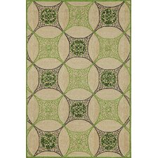 Carlton Green Interlace Indoor/Outdoor Rug