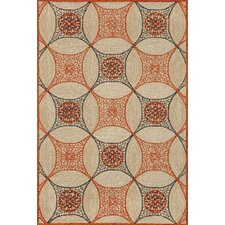 Carlton Orange Interlace Rug