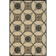 Carlton Black Interlace Indoor/Outdoor Rug