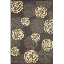 Monterey Charcoal Mums Indoor/Outdoor Rug