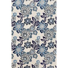 Ravella China Blue Floral Outdoor Area Rug