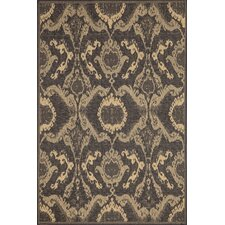Monterey Charcoal Ikat Indoor/Outdoor Rug