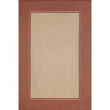 Monterey Sunset Border Indoor/Outdoor Rug