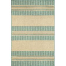 Madison Beige/Green Stripe Indoor/Outdoor Area Rug