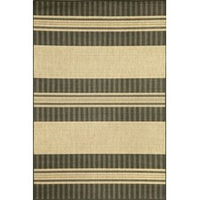 Madison Charcoal Stripe Indoor/Outdoor Rug