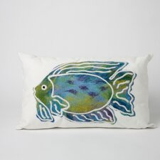 Batik Fish Rectangle Indoor/Outdoor Pillow