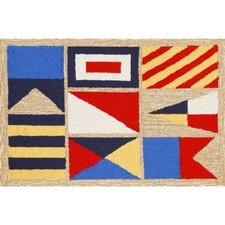 Frontporch Signal Flags Area Rug